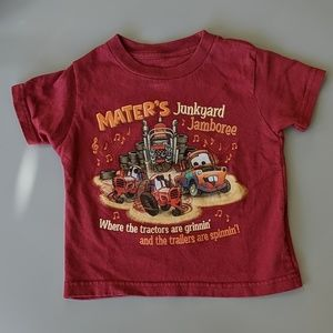 Disney Parks Toddler Maroon Tow Mater Tee